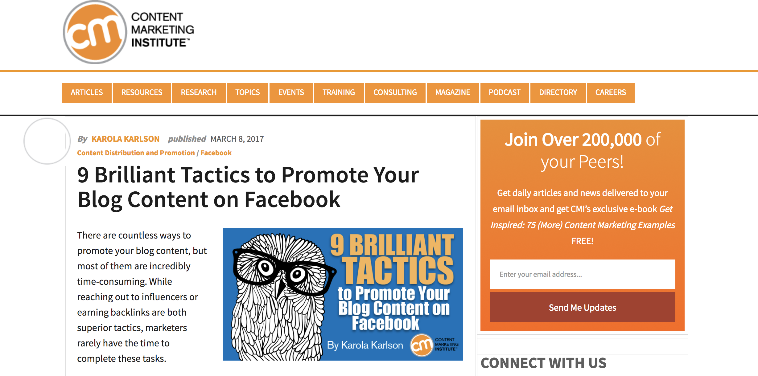 9 brilliant tactics to promote your blog content on facebook