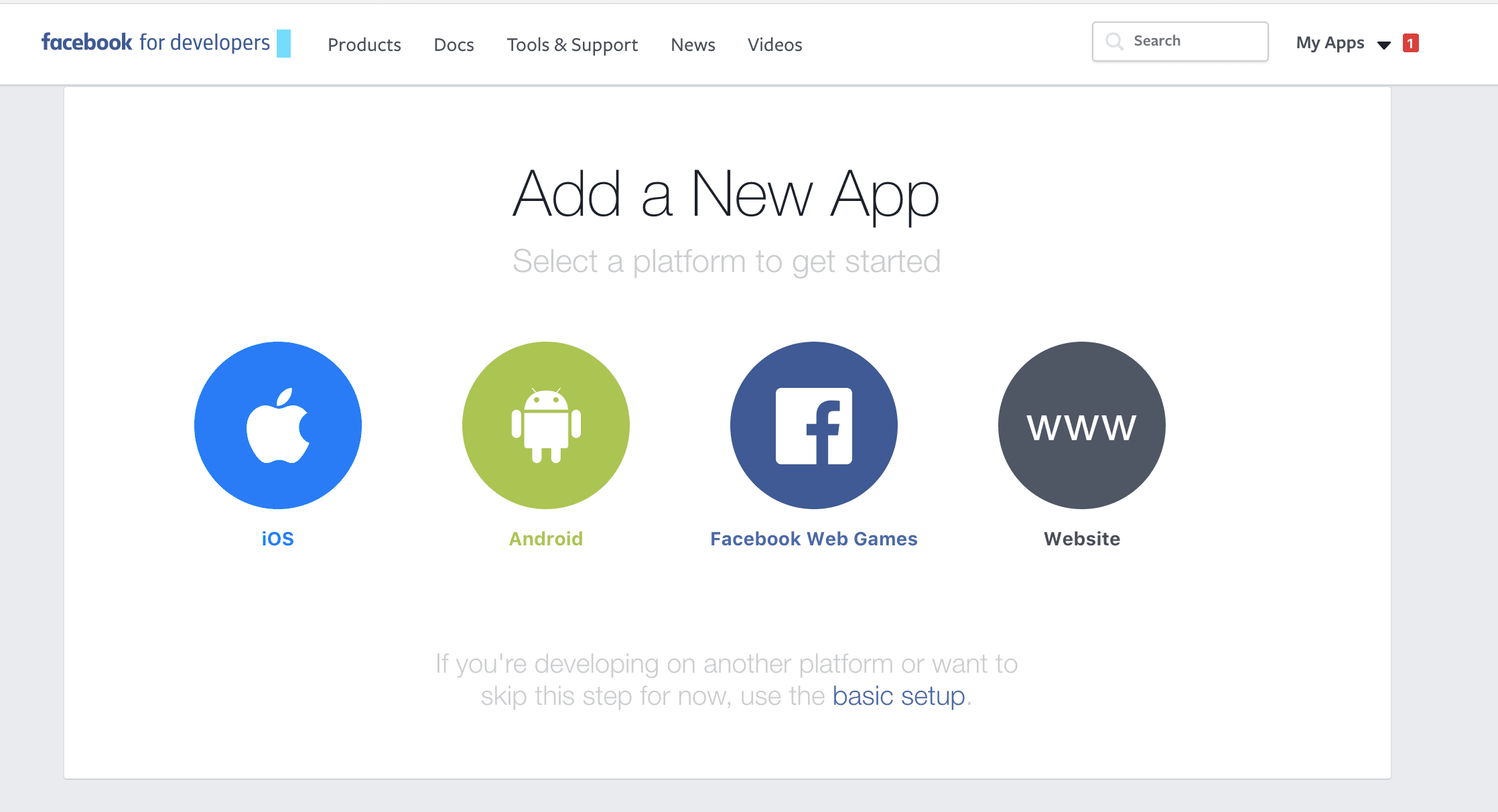 Integrate mobile app with Facebook