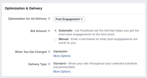 facebook ad optimization and delivery
