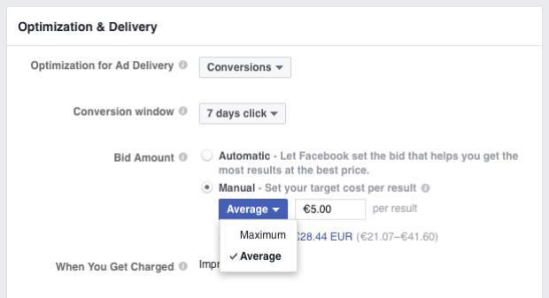 facebook ads bid amount