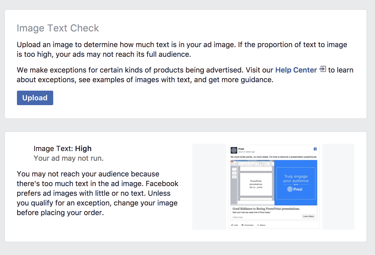 facebook ad example by prezi