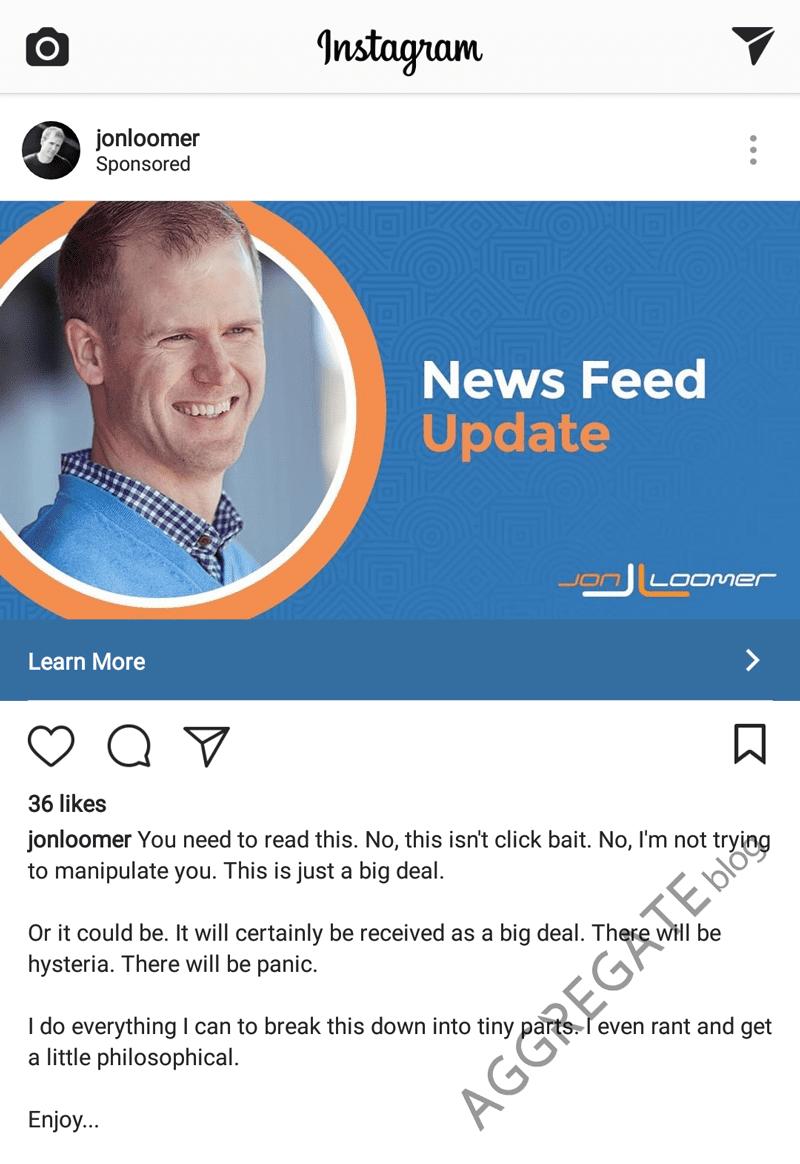 instagram ad example