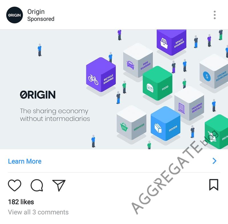 Origin instagram ad example