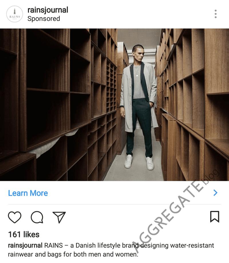 Rains instagram ad