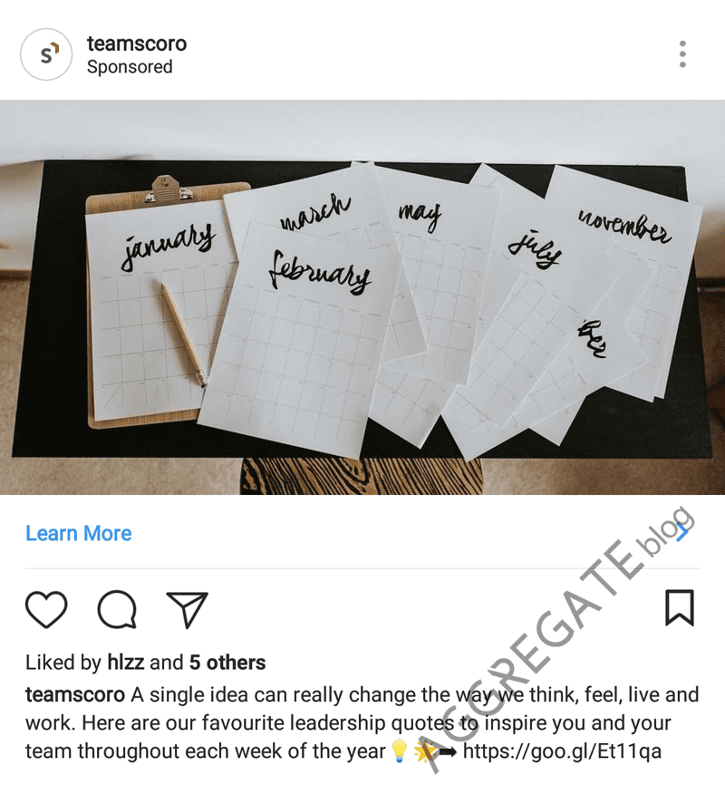Scoro instagram ad