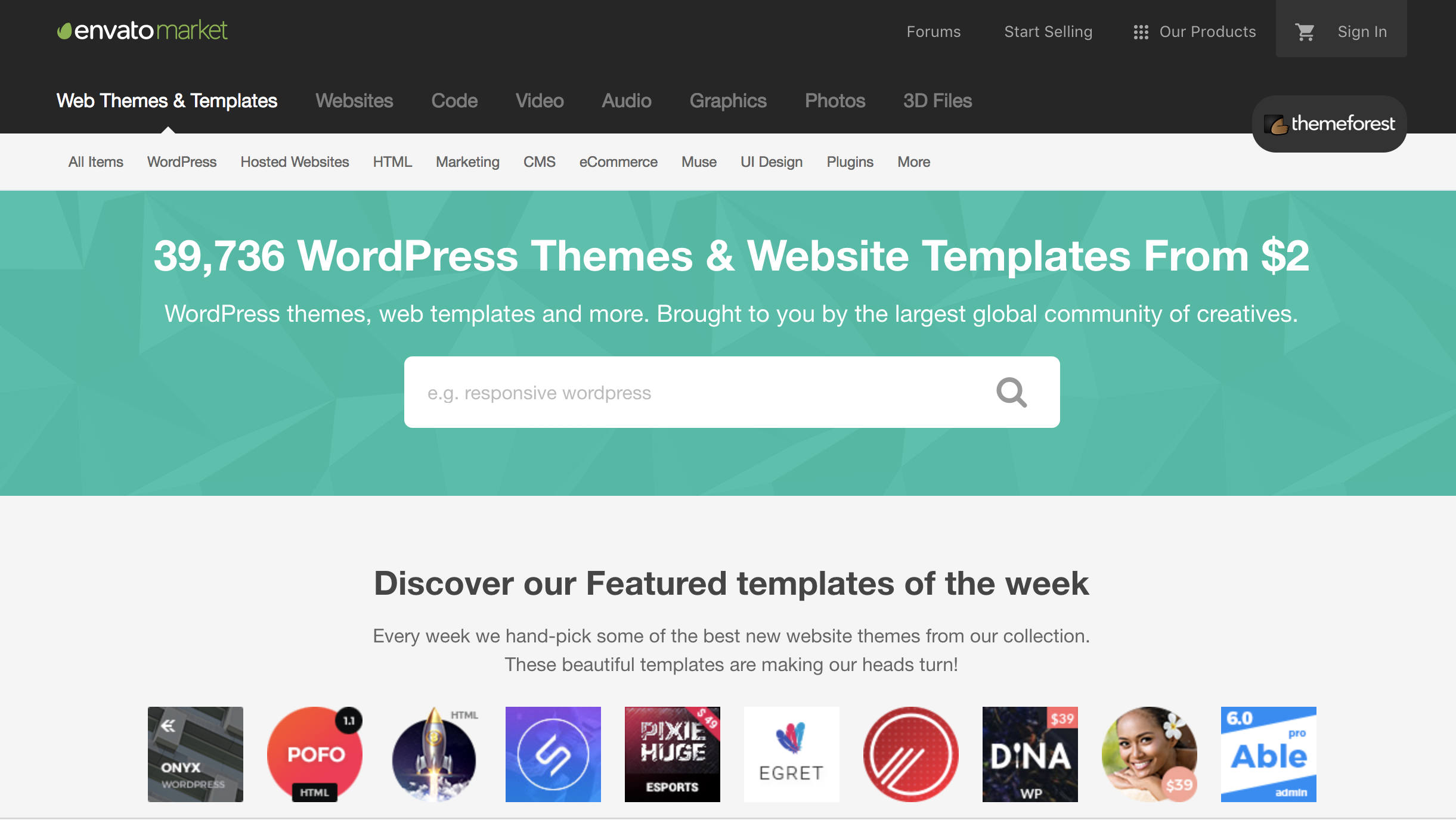 looking for the right blog theme