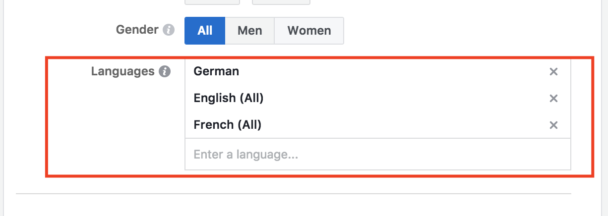 multi-language facebook ads