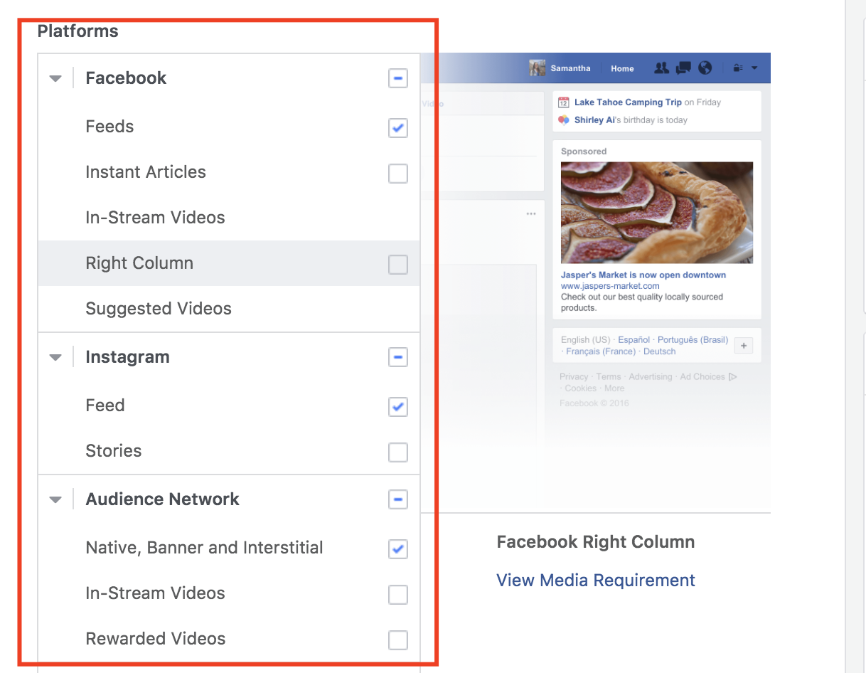 set up multi language facebook ads