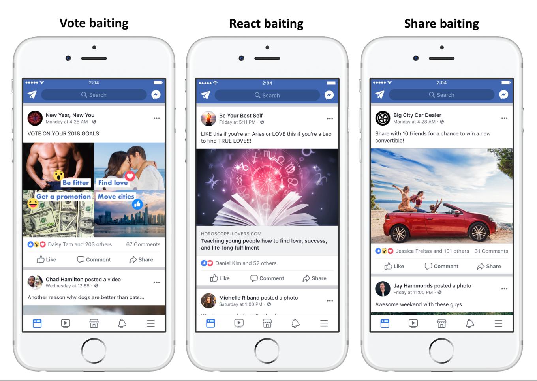 Facebook updates 2018