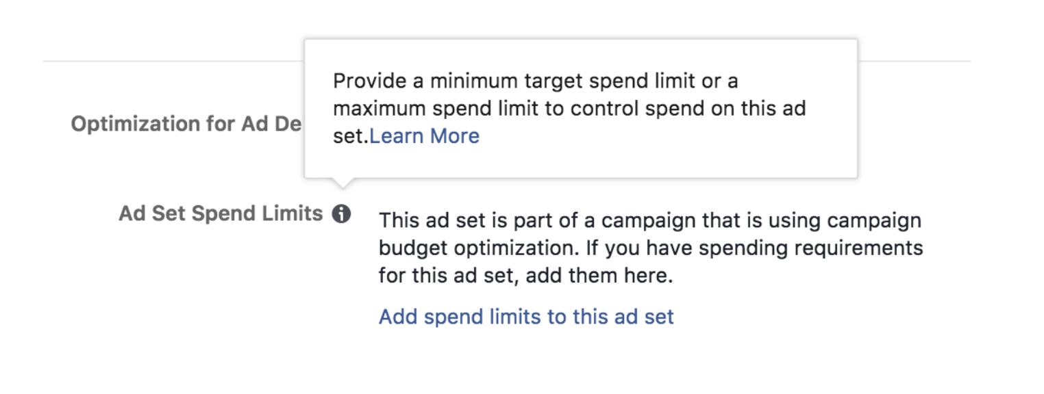 facebook ad set budgets