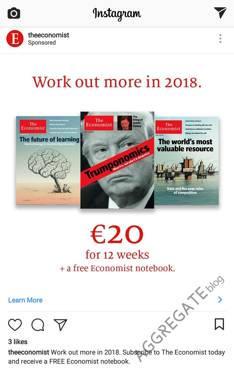 Economist instagram ad example