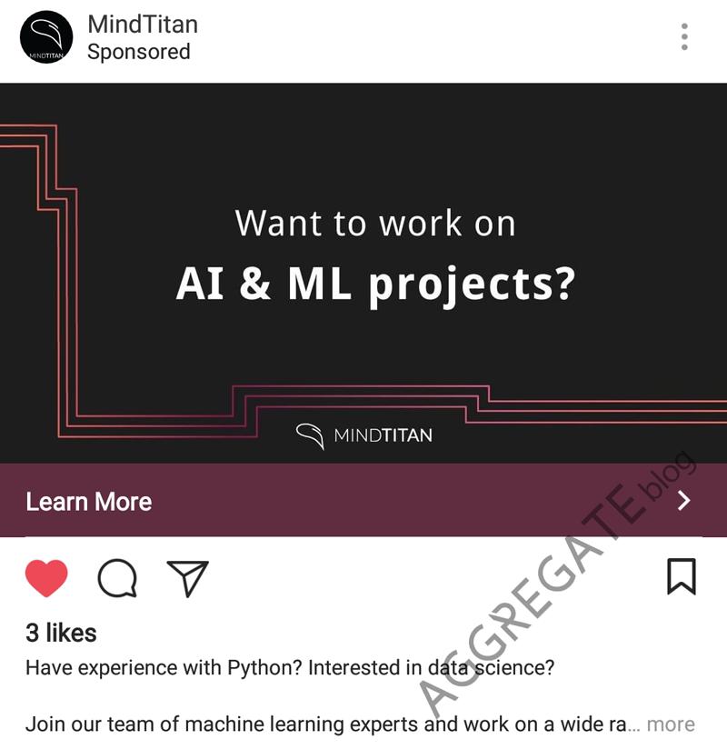 MindTitan instagram ad example