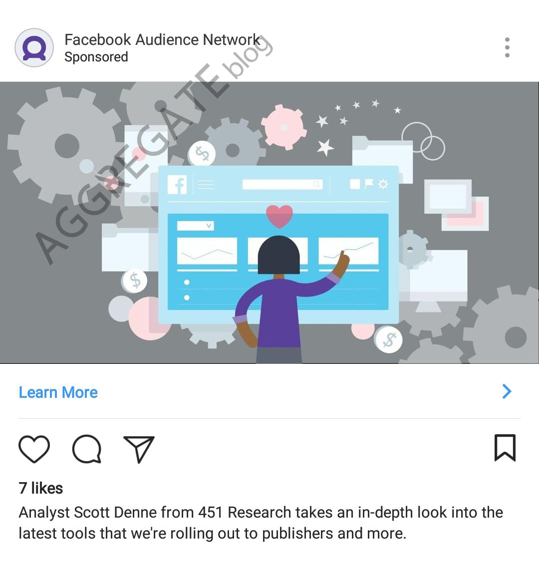 Facebook instagram ad example