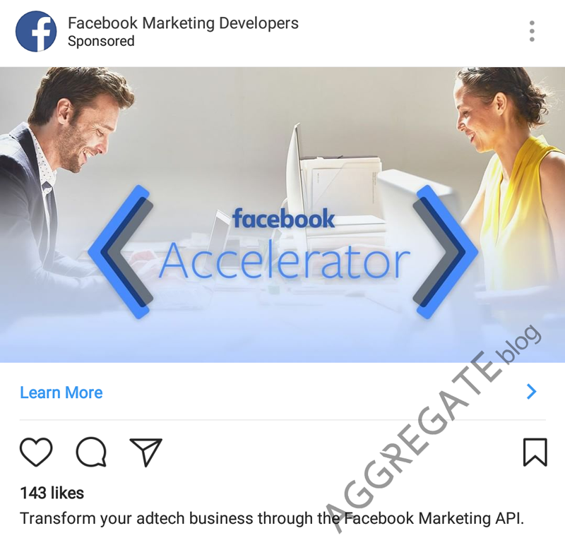 Instagram ad example
