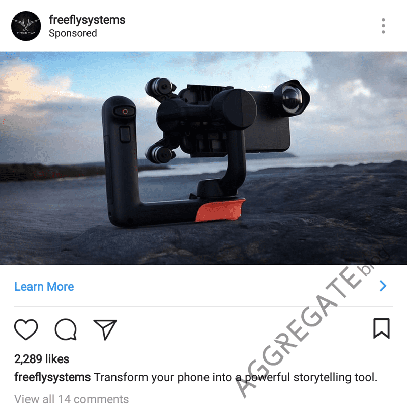 Freefly systems Instagram ad