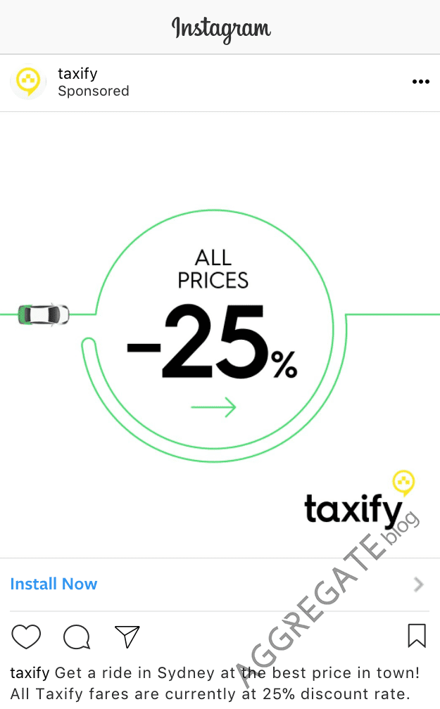 Taxify instagram ad