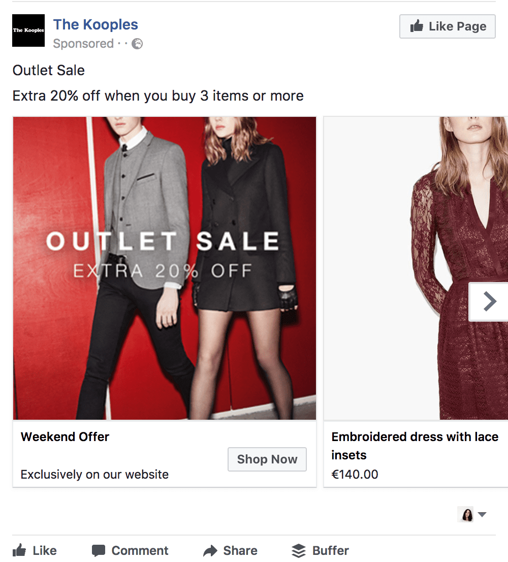 eCommerce brands can use Dynamic Product ads