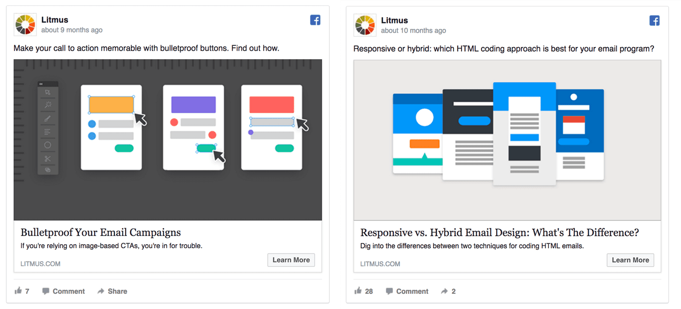 Litmus remarketing ads