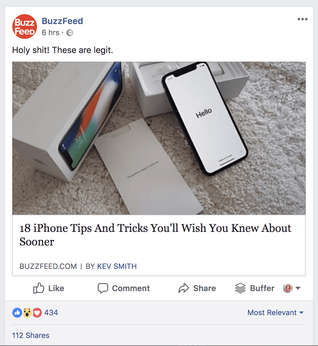 Buzzfeed post example