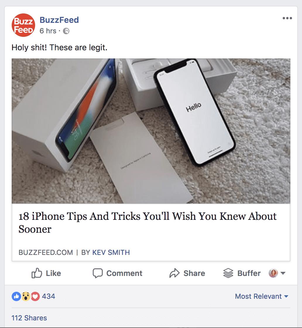 Buzzfeed post example