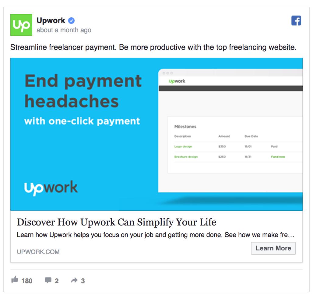 upwork ad example