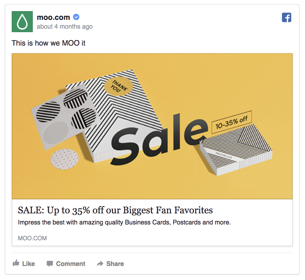 moo facebook ad template