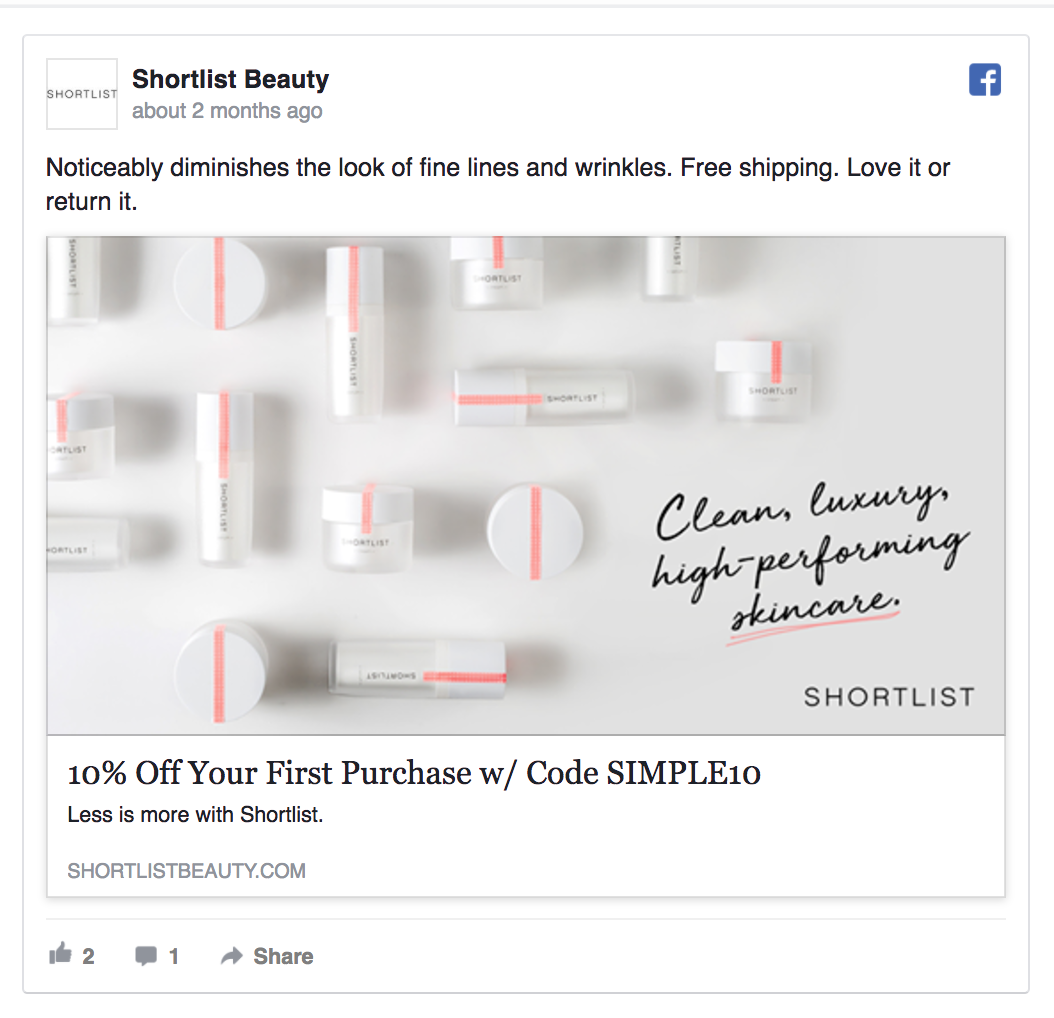 beauty facebook ad template