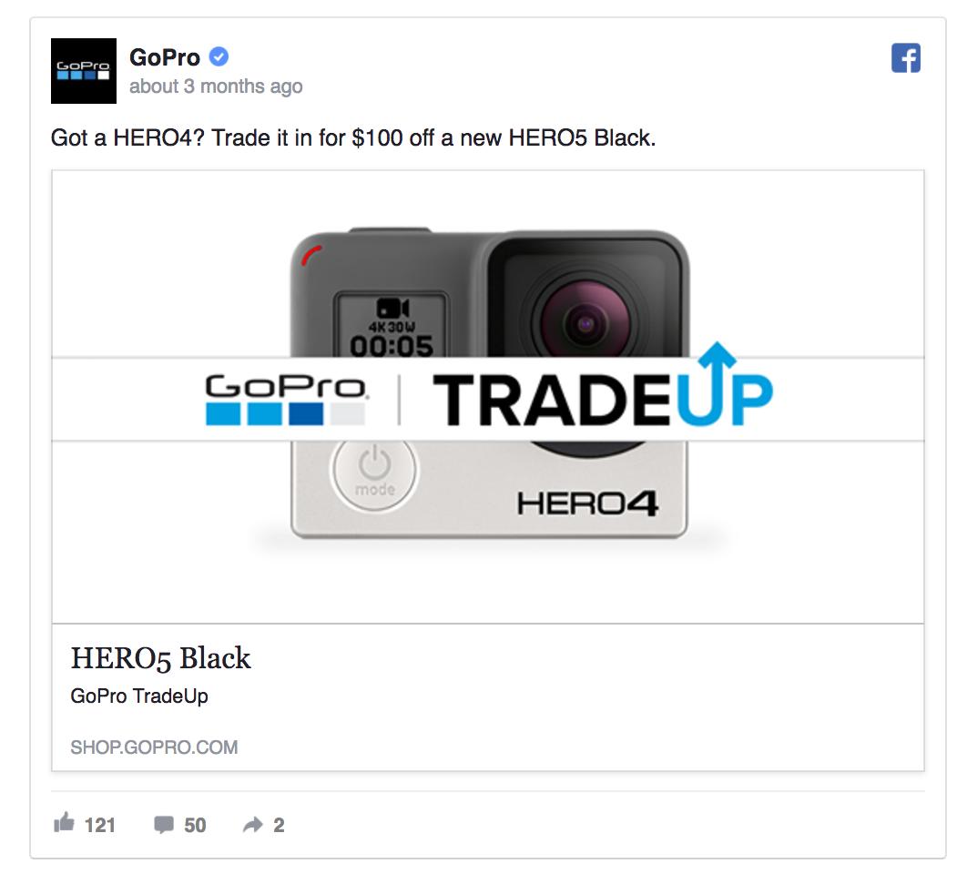 GoPro facebook ad