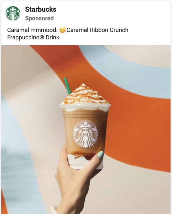 starbucks facebook ad example