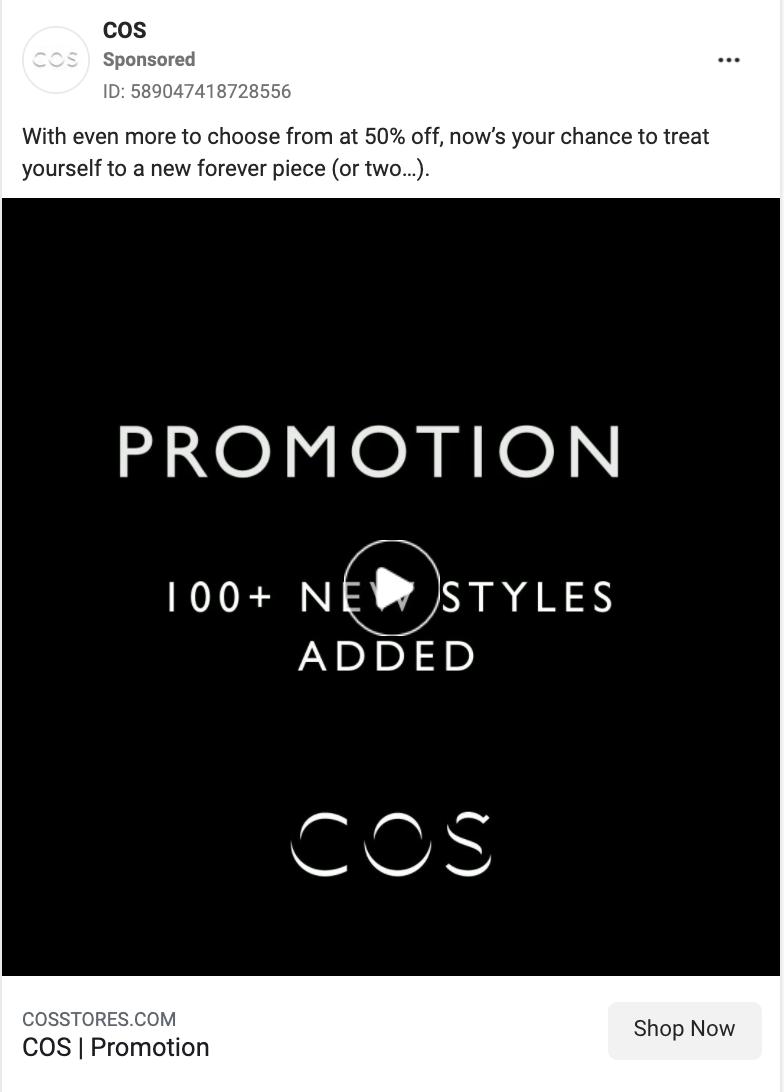 cos facebook ad