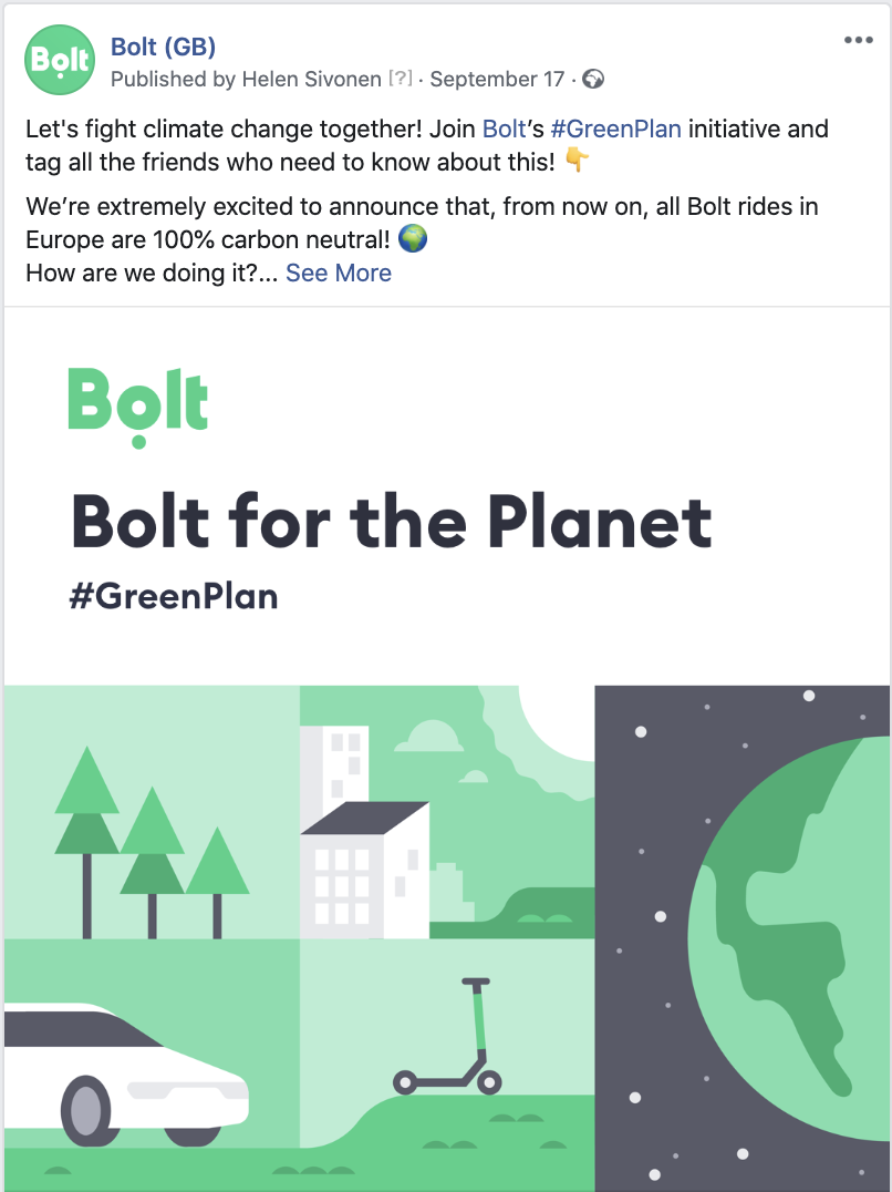 Bolt Green Plan