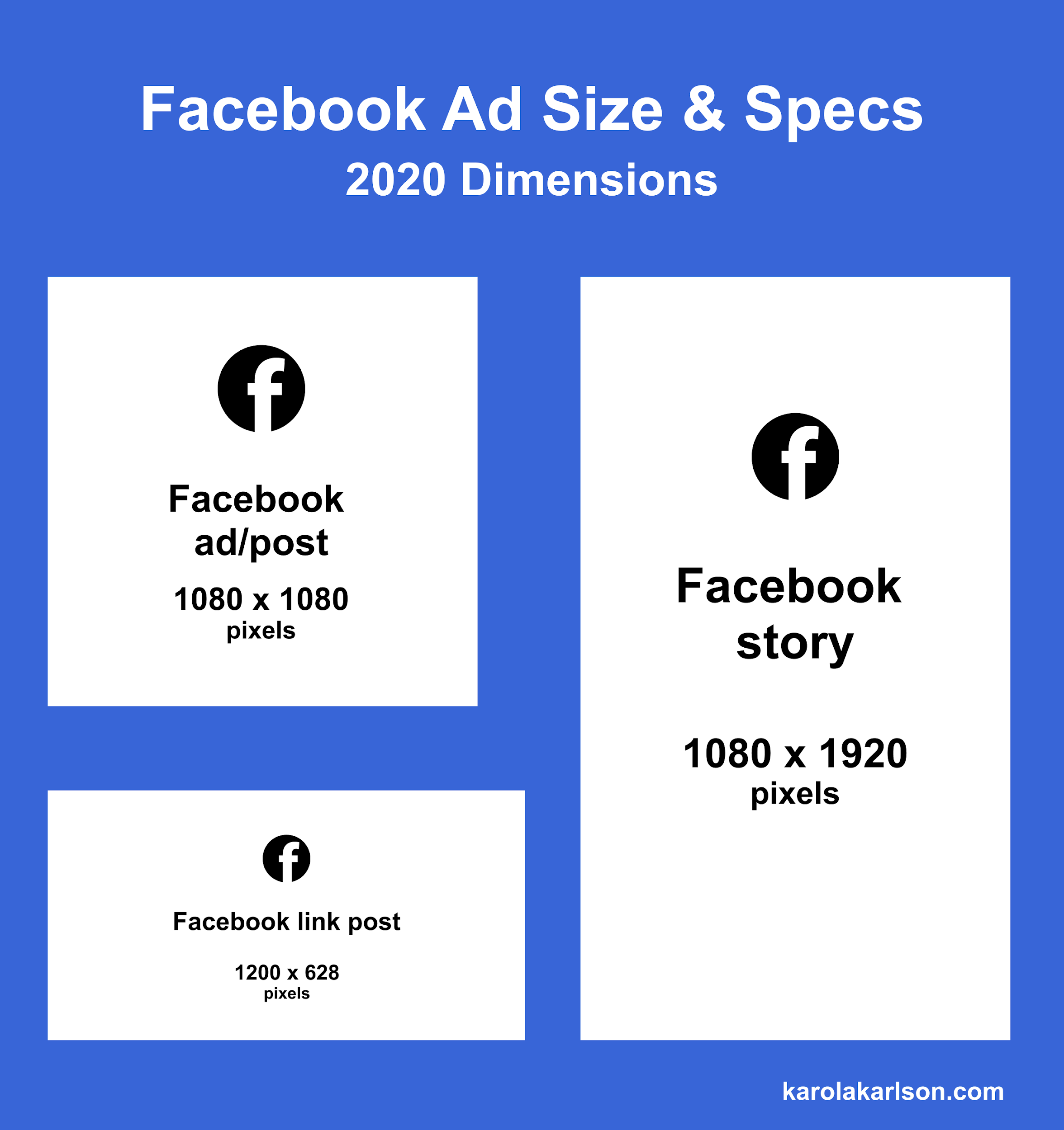 facebook ad size and specs in 2020