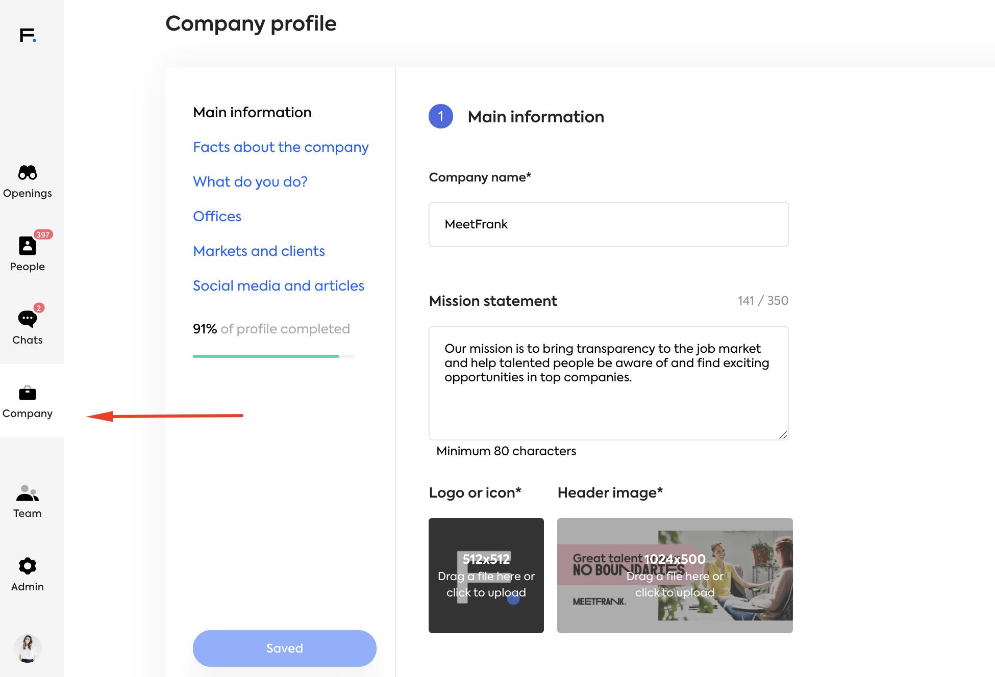 MeetFrank company profile