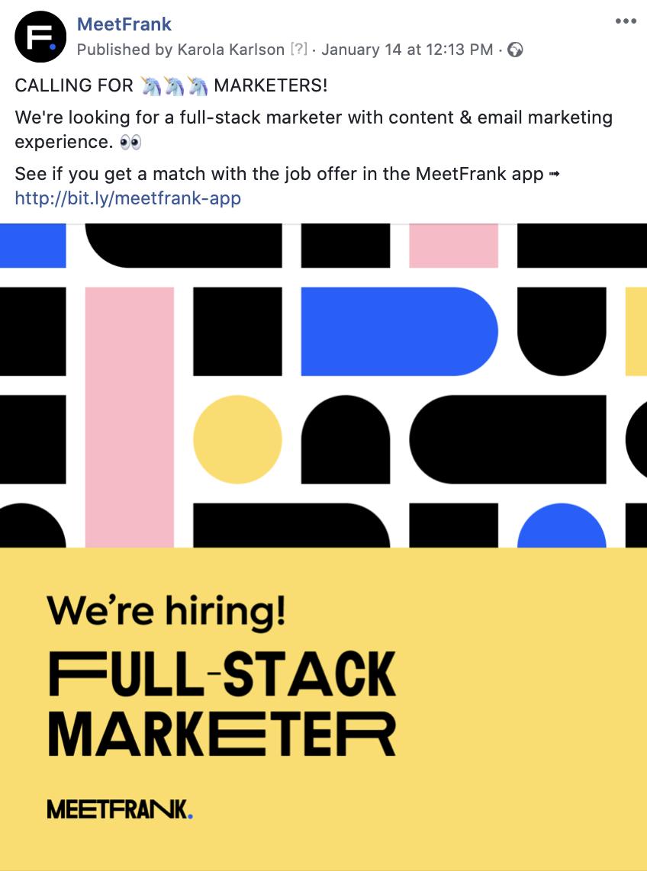 hiring ad example