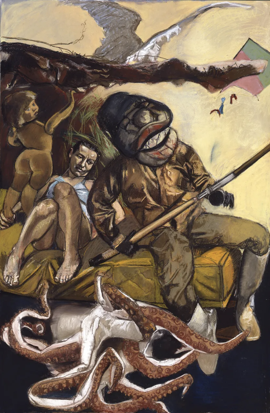 The Fisherman, Triptych (right panel) by Paula Rego